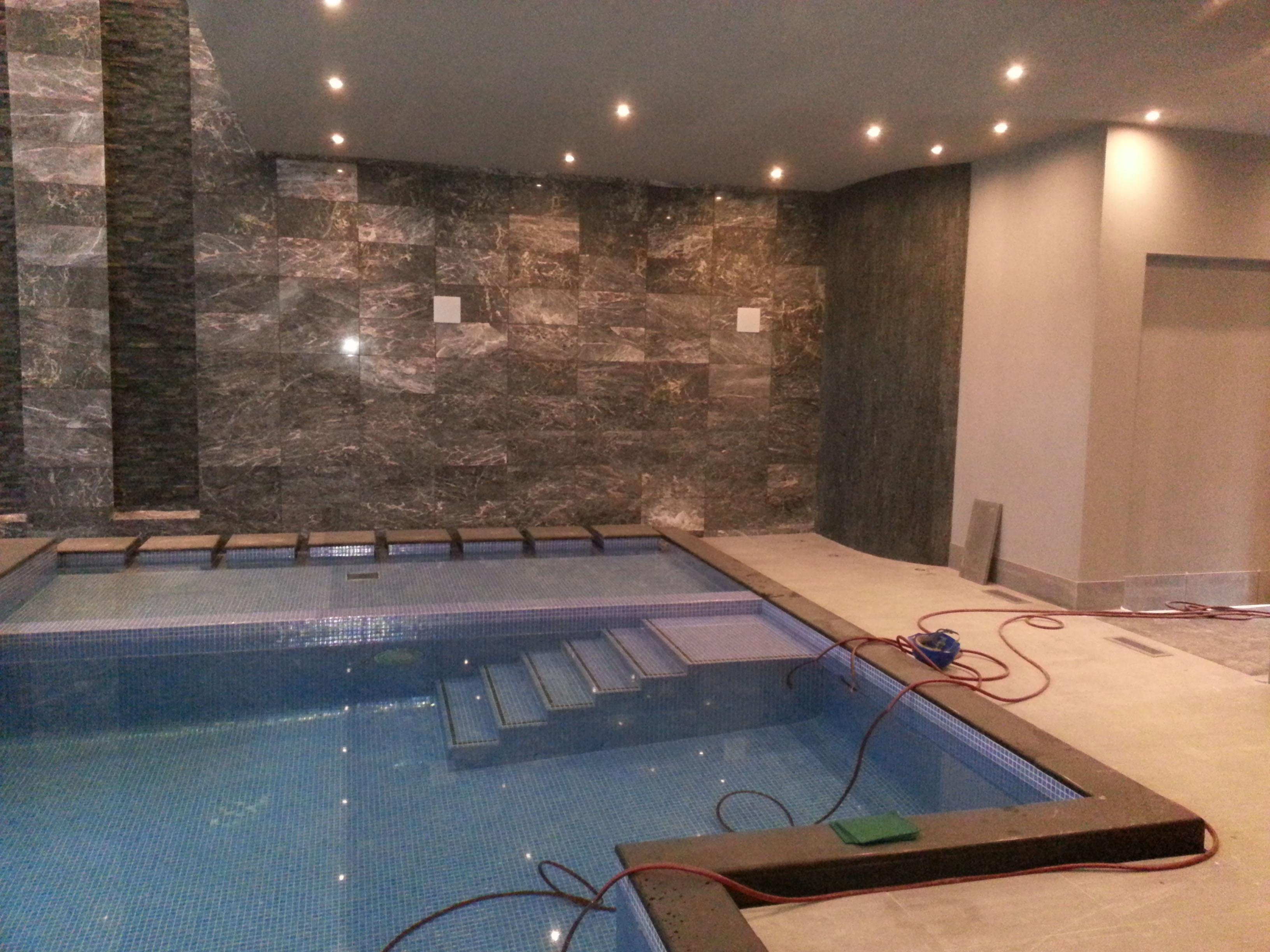 Large swimming pool jacuzzi installation - B Williams Electrical Ltd